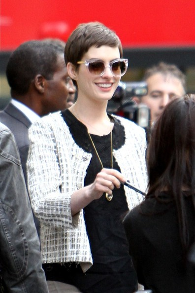 Anne Hathaway Cropped Jacket