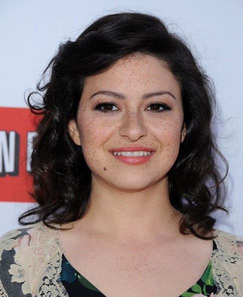 More Pics of Alia Shawkat Medium Curls (1 of 7) - Alia Shawkat Lookbook - StyleBistro