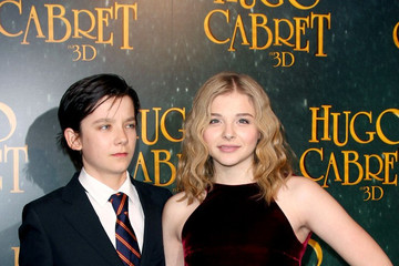 Asa Butterfield Chloe Grace Moretz Stars at the Paris Premiere of 'Hugo'