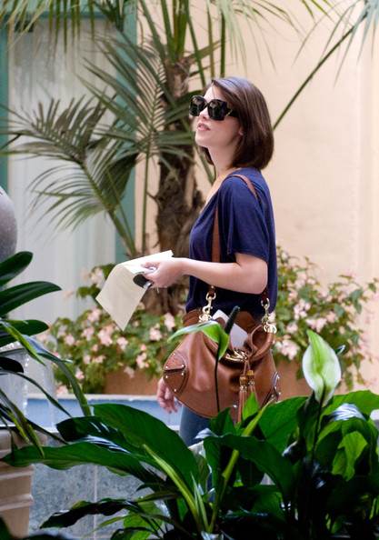 Ashley Greene Tasseled Hobo Bag