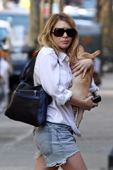 Ashley Olsen Rectangular Sunglasses