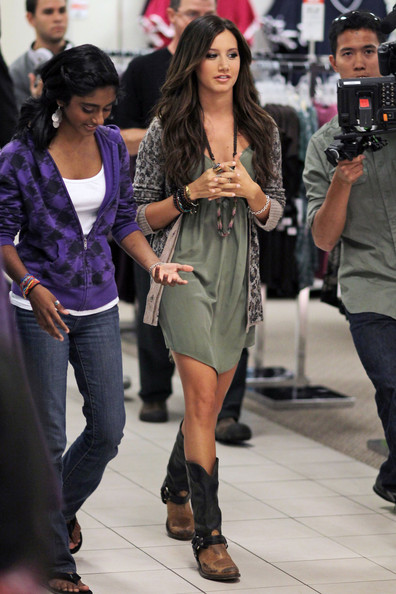 Ashley Tisdale Cowboy Boots