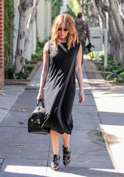 Ashley Tisdale was casual-chic in a swingy LBD while out and about.
