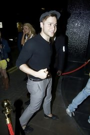Olly Murs rocked a pair of moccasins while out at the Rose Club.