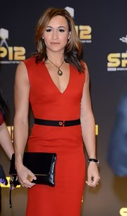 Jessica Ennis' red sheath dress and black leather clutch at the BBC Sports Personality of the Year Awards were a very chic pairing.