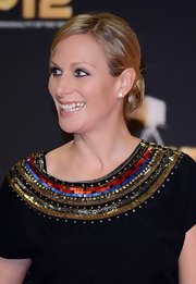Zara Phillips was all smiles at the BBC Sports Personality of the Year Awards in a chic chignon.