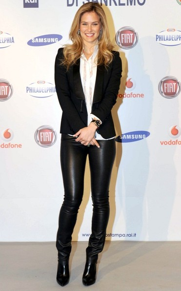 Bar Refaeli Leather Pants