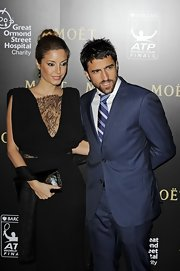 Janko Tipsarevic donned a blue striped suit at the Barclays ATP World Tour Finals Gala.