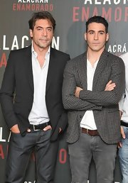 Miguel Angel Silvestre looked fun and distinctive in his gray gingham blazer.