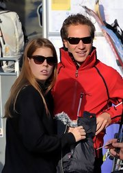 Princess Beatrice hit the slopes in wayfarer style shades.