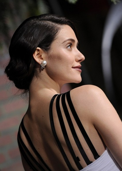 More Pics of Emmy Rossum Bobby Pinned Updo (1 of 38) - Emmy Rossum Lookbook - StyleBistro