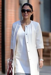 Bethenny Frankel stepped out in NYC wearing her hair in a simple sleek ponytail.