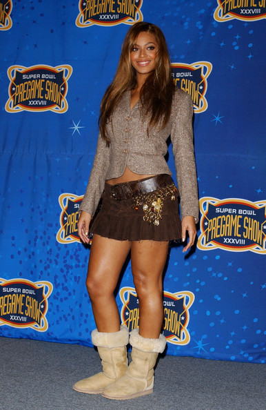 Beyonce Knowles Sheepskin Boots