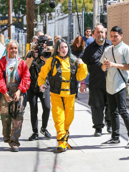 More Pics of Billie Eilish Leather Sneakers (1 of 12) - Athletic Shoes Lookbook - StyleBistro