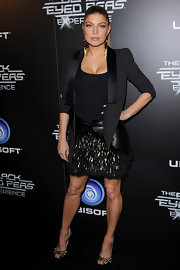 Fergie rocked The Black Eyed Peas launch party in Hollywood in peep-toe pumps complete with spiked detailing.