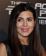 Jamie-Lynn Sigler wore a pretty raspeberry lipstick with a subtle frosty finish at the launch party for The Black Eyed Peas Experience.