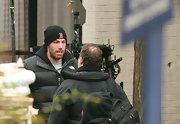 Ben Affleck supports the Boston Red Sox with this winter cap.