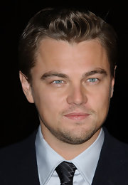 Leonardo DiCaprio sported spiked hair at the premiere of 'Blood Diamond.'