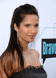 Padma Lakshmi rocked a seek half up hairstyle at the Bravo's Media 2011 Upfront Presentation.