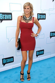 Alexis showed off her fierce curves in a red bandage dress at the Bravo Upfront Presentation.