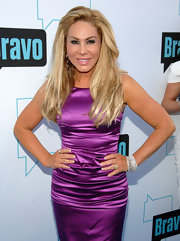 Adrienne Maloof spruced up her outfit with layers of diamond bracelets during Bravo's 2011 Upfront Presentation.