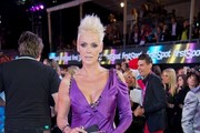 Brigitte Nielsen Evening Dress
