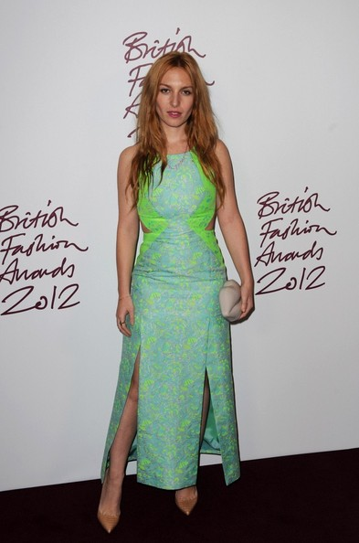 Josephine de la Baume at the 2012 British Fashion Awards