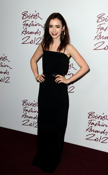 Lily Collins at the 2012 British Fashion Awards