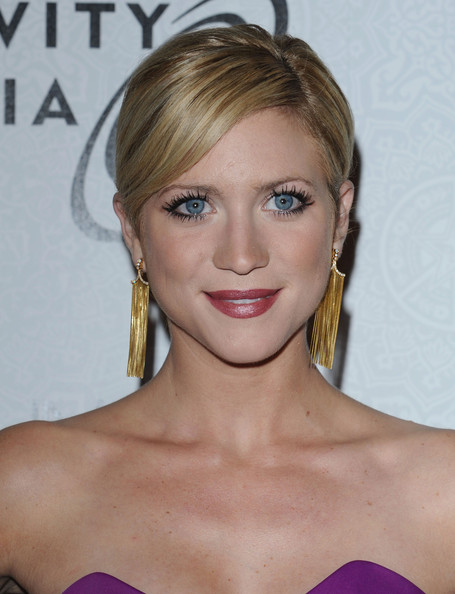 Brittany Snow Gold Dangle Earrings