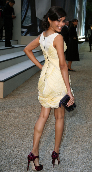 More Pics of Freida Pinto Loose Bun (1 of 2) - Freida Pinto Lookbook - StyleBistro