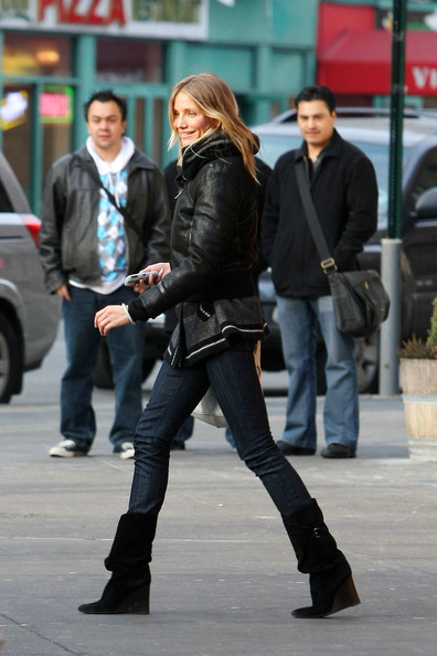 Cameron Diaz Wedge Boots