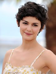 Audrey Tautou's choppy messy 'do looked totally chic on the French actress.