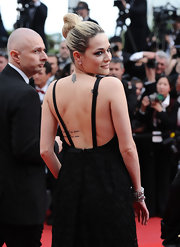 Laura Chiatti showed off her high bun while attending the Cannes Film Festival.