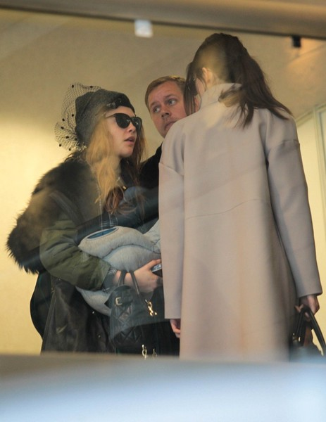 Cara Delevingne Spotted at LAX