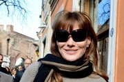 Carla Bruni-Sarkozy Patterned Scarf