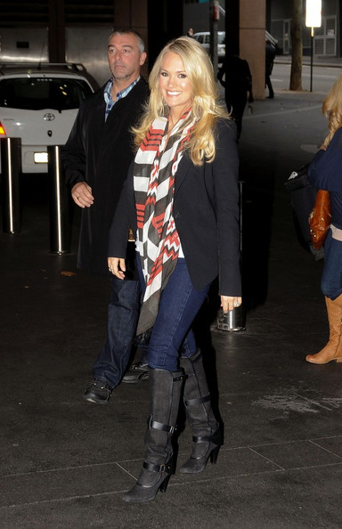 Carrie Underwood Knee High Boots