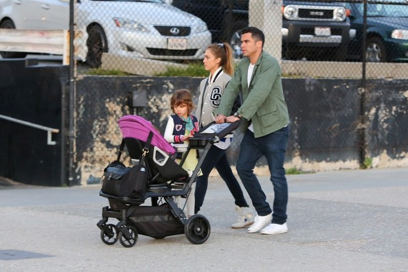 Jessica Alba and Family in Santa Monica