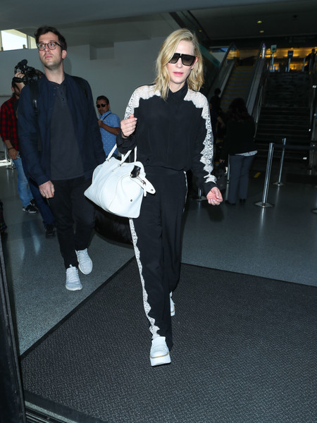 Cate Blanchett Leather Tote
