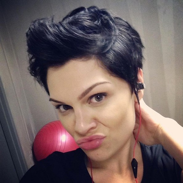 Jessie J posted a selfie wearing this cool fauxhawk.