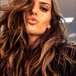 Izabel Goulart Puckers Up