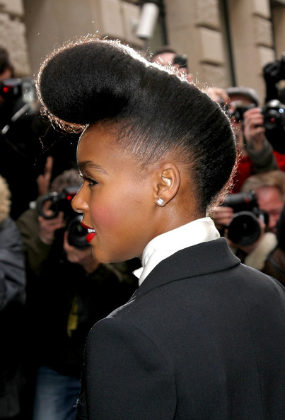 More Pics of Janelle Monae Pompadour (1 of 4) - Pompadour Lookbook - StyleBistro