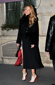 Blake Lively was Chanel's guest of honor in intricate Salsbourg embellished sandals.