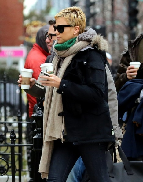 More Pics of Charlize Theron Down Jacket (3 of 20) - Charlize Theron Lookbook - StyleBistro