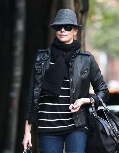 Charlize Theron Leather Jacket