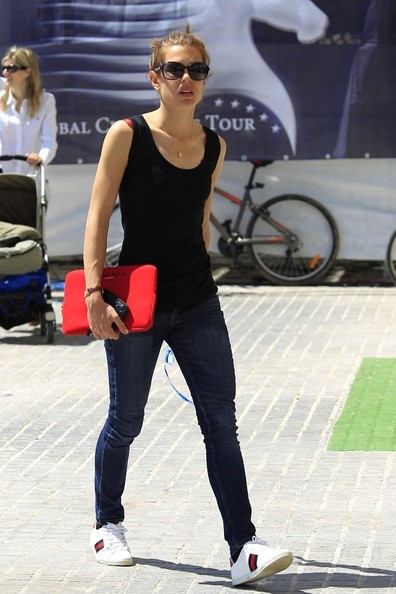 Charlotte Casiraghi Leather Sneakers