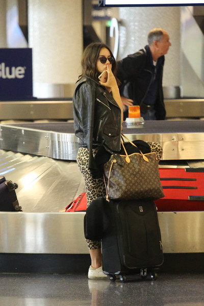 Chloe Bennet was spotted at LAX carrying a stylish Louis Vuitton tote.