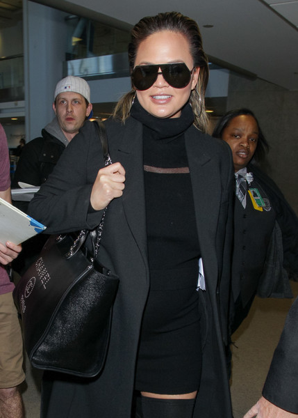 Chrissy Teigen Studded Shoulder Bag