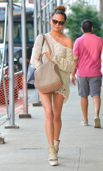 More Pics of Chrissy Teigen Ankle Boots (2 of 7) - Chrissy Teigen Lookbook - StyleBistro