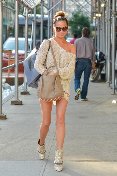 More Pics of Chrissy Teigen Ankle Boots (5 of 7) - Chrissy Teigen Lookbook - StyleBistro