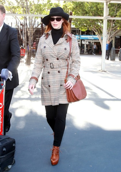 More Pics of Christina Hendricks Trenchcoat (1 of 11) - Christina Hendricks Lookbook - StyleBistro